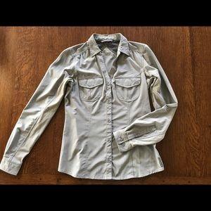Ex Officio Light Grey Button-up Travel Shirt
